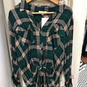 Army green flannel
